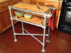 outstanding industrial kitchen island table | DIY Counter Height Table with Pipe Legs | Pipe Furniture ...