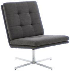 AC Design Furniture 44033 Sessel Nils, Bezug Strukturstoff anthrazit, Gestell Metall verchromt €185