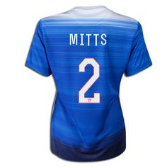 2015 FIFA Women's World Cup USA Heather Mitts 2 Women Away Soccer Jersey