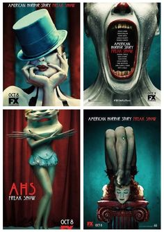 a h s - f r e a k s h o w . In the two upper shots.... the beautiful and talented Ania Gerasimova Spiering.... for American Horror Story; Freak Show
