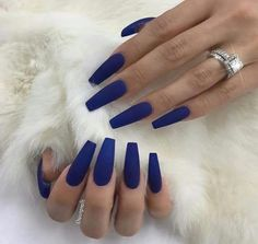 Don't like matte nails, but the blue is  dark and it looks nice in the pic.