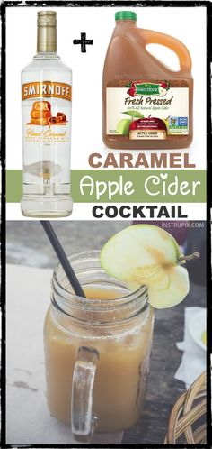 of 2 ingredient holiday cocktails! This caramel apple cider cocktail recipe. List of 2 ingredient holiday cocktails! This caramel apple cider cocktail recipe.List of 2 ingredient holiday cocktails! This caramel apple cider cocktail recipe. Easy Alcoholic Drinks, Party Drinks Alcohol, Drinks Alcohol Recipes, Cocktail Recipes, Drink Recipes, Alcohol Shots, Party Recipes, Christmas Drinks Alcohol, Easy Holiday Recipes