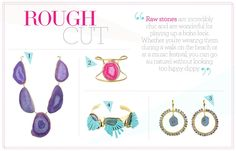 10 summer jewelry trends - Raw | Gallery | Glo.  Love that purple agate necklace.
