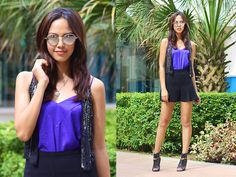 Brand Smart Vest, Brand Smart Top, Brand Smart Shorts, Pedro Heels, Urban Outfitters Sunnies