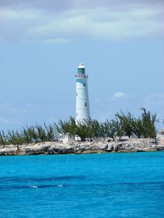 one of only two manually operated lighthouses in the Bahamas