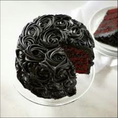 Red velvet, black rose