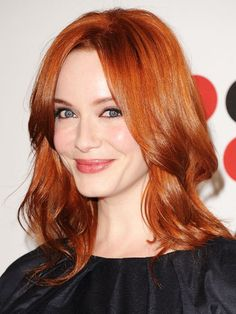 "FACE-FRAMING ""Christina Hendricks's version adds soft layers around the face. This keeps your face open,"" says Buckett. ""The layers should be at your chin or a little higher if you have a square jaw."""