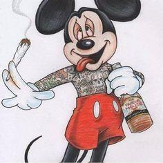 punk rock disney … – Graffiti World Dark Disney, Disney Art, Disney High, Cartoon Art, Cartoon Characters, Fantasy Characters, Weed Wallpaper, Mickey Mouse Wallpaper, Mickey Mouse Drawings