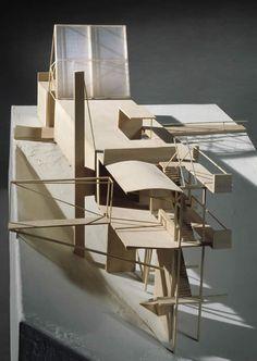elise chapin interpretive centre nature museum, hanrahan meyers. cast base/ balsa structure