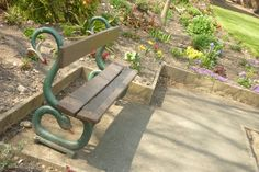 The serpent bench.  Sight unseen in Oswestry.  Guess where.