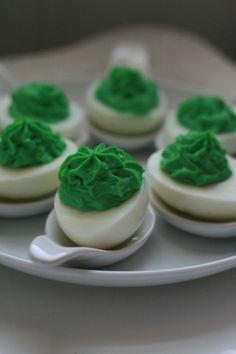 Green eggs...for St. Patrick's Day pot luck