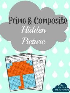 "Prime & Composite Number Hidden Umbrella Picture: Perfect ""Rainy Day"" lesson"