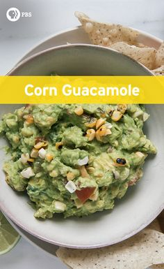 Blistered corn guacamole adds a little extra flavor to your appetizer spread.