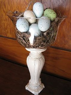 cool bowl to hold easter eggs, pine cones, tree ornaments, etc.
