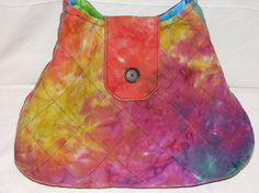 Quilted Purse Batik Tie Dye Large Purse Handbag by adfabinidaho, $50.00  I love this material!