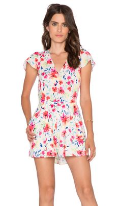3da759051f6 Yumi Kim Sienna  Romper in Wildflower Burst