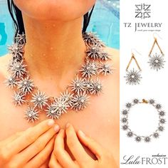 Radiant necklace and earrings from TRANSCEND FW14 collection! #LuluFrost #LisaSalzer #radiant #necklace #earrings #transcend #exclusive #jewelry #TZjewelry #unique