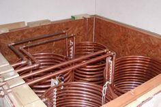 solar heat storage tank copper coil heat exchangers
