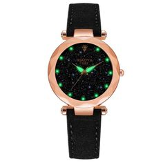 Creative Fashion Women Watches 2019 Best Sell Star Sky Dial Clock Luxury Rose Gold Womens Bracelet Quartz Wrist Watches New Dropshipping Home