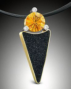 Drusy and Citrin Pendant