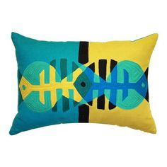 Pisces 30x50cm Cushion Cover, Teal