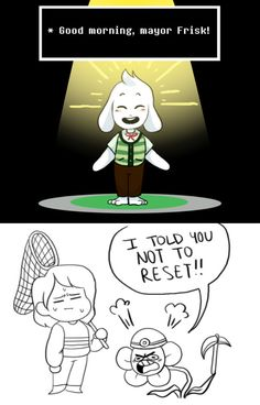 Asriel, Frisk, and Flowey - Animal Crossing parody XD Undertale Comic, Undertale Flowey, Undertale Memes, Animal Crossing Funny, Ac New Leaf, Pokemon, Toby Fox, Fandom Crossover, Underswap