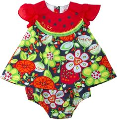 Perfect for a picnic! Vestido popelina, para menina - tuc tuc