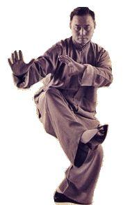 Yang Style Tai Chi Chuan  Turn Around and Slap-Kick  Grand Master Tung Hu Ling