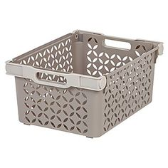 This set of two Large Decorative Storage Baskets offers a stylish and functional storage solution for any room in the house. Its folding handles make for easy transport and allow baskets to be nested to save space while not in use. Large Storage Totes, Cube Storage Baskets, Decorative Storage Bins, Plastic Storage Totes, Seagrass Storage Baskets, Wire Storage, Fabric Storage Bins, Fabric Bins, Storage Containers