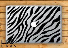 zebra print skin / MacBook decal/ Macbook vinyl decal/ macbook sticker/ anime decal/ macbook air decal/ macbook pro decal hnkmd132F