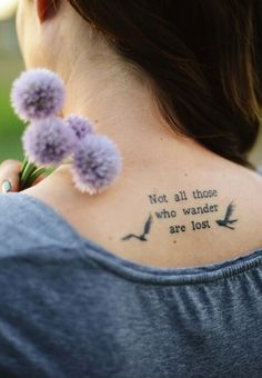 not all those who wander are lost - lord of the rings