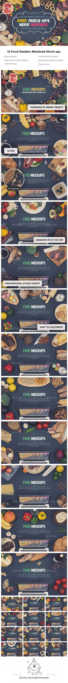 Food Hero Headers Macbook Mock-ups is a mockup psd template for hero images scene generator created by awesomegoodies. Mockup Photoshop, No Photoshop, Macbook Mockup, Mockup Generator, Website Header, Header Image, Scene Creator, Web Design Trends, Blog