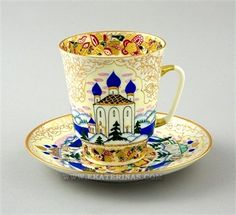 Ekaterina's Imperial Porcelain &Tea. Russia Cup and Saucer