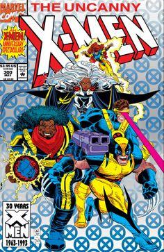 Uncanny X-Men 300 - Storm - Wolverine - Cyclops - Jean Grey - Bishop - John Romita Marvel Comics, Hq Marvel, Marvel Comic Universe, Marvel Comic Books, Comic Book Heroes, Comic Superheroes, Marvel Characters, Marvel Cinematic, Jean Grey