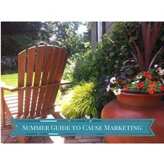 Get started with cause marketing from the comfort of your beach towel or chair. You'll raise six-figures in September!