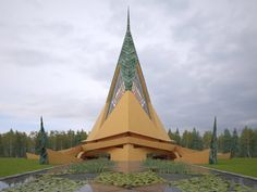 Frank Lloyd Wright's unbuilt Trinity Chapel is realised in images by David Romero