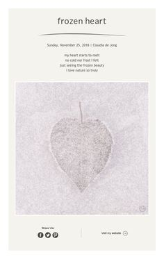 frozen heart Framed Words, Frozen Heart, Simple Photo, Photo Art, Wallpaper, Prints, Inspiration, Biblical Inspiration, Wallpapers