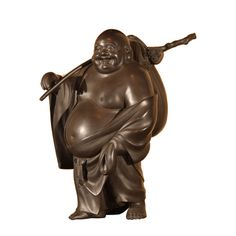 JAPAQNESE bronze statuary    Japanese Bronze Statue of Hotei