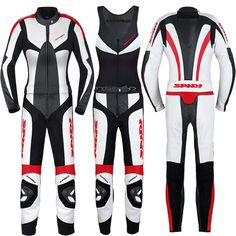 Spidi Poison Leather Womens Street  Motorcycle Race Suits