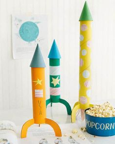 DIY RECYCLED ROCKETS
