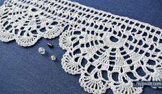 "MyPicot | Free crochet patterns - ""Homework""- wide economy lace edging╭⊰✿Teresa Restegui http://www.pinterest.com/teretegui/✿⊱╮"