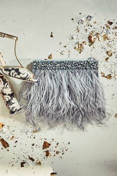 Feathered Fete Clutch - anthropologie.com