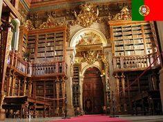 Biblioteca Geral - pertence à Universidade de Coimbra, em Portugal. Foi fundada em 1537 com o estabelecimento da universidade, e reconstruída em 1725.