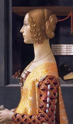 ❤ - DOMENICO GHIRLANDAIO (1449 - 1494) - Portrait of Giovanna Tornabuoni - 1488. Thyssen-Bornemisza, Madrid.