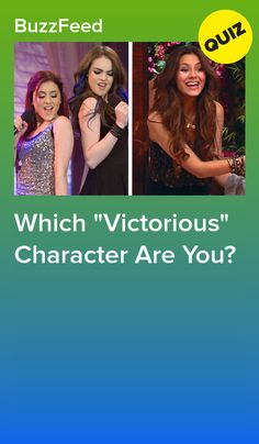 """Answer These Questions And We'll Reveal Which """"Victorious"""" Character You Are Jade West Victorious, Victorious Cat, Victorious Nickelodeon, Icarly And Victorious, Cat Valentine Victorious, Icarly Characters, Disney Characters, Best Buzzfeed Quizzes, Bff"""