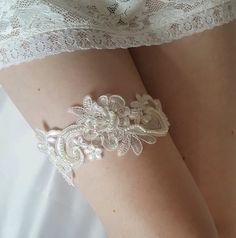 Kousenband ivoor kanten kousenband bruids Kousenband