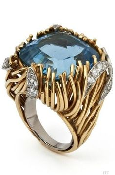 Gorgeous Modernist design of a ring by Grima