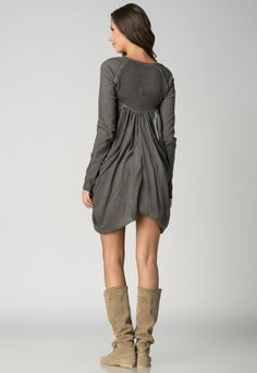Angels Never Die Gray Knitted Back Dress