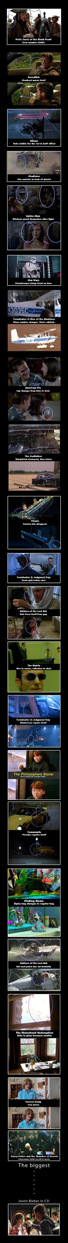 Movie Mistakes.. I can never watch these movies without looking for these now