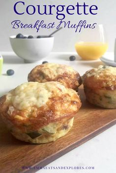 Courgette Breakfast Muffins (Zucchini) by Emma Eats & Explores - Grain-free, Gluten-free, Low Carb, LCHF, Paleo, SCD, Vegetarian, Refined Sugar-free